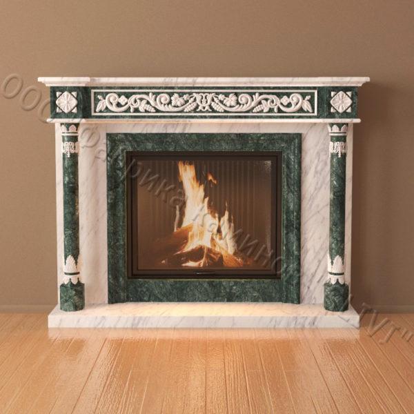 Мраморный каминный портал (облицовка) Ажен, каталог (интернет-магазин) каминов из мрамора, изображение, фото 6