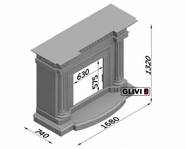 Мраморный каминный портал (облицовка) Беллини, каталог (интернет-магазин) каминов из мрамора, изображение, фото 7