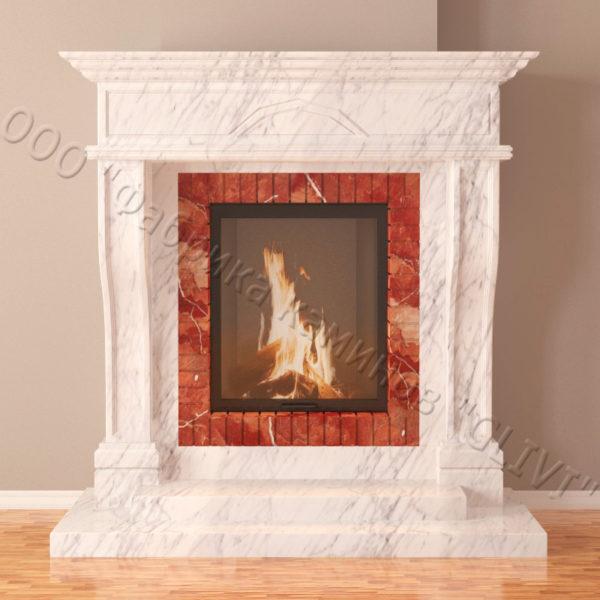 Мраморный каминный портал (облицовка) Британия, каталог (интернет-магазин) каминов из мрамора, изображение, фото 5