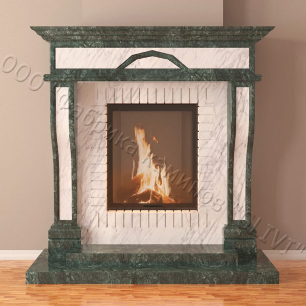 Мраморный каминный портал (облицовка) Британия, каталог (интернет-магазин) каминов из мрамора, изображение, фото 6