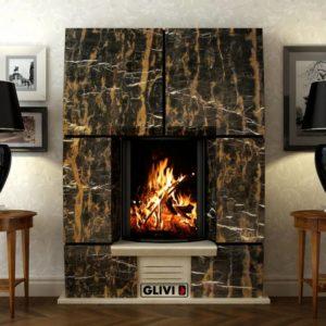 Мраморный каминный портал (облицовка) Доусон, каталог (интернет-магазин) каминов из мрамора, изображение, фото 1