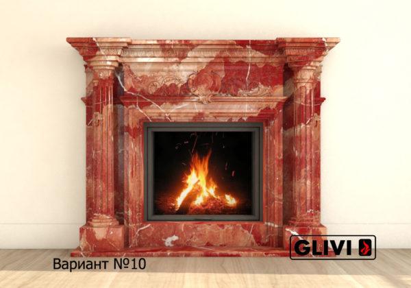 Мраморный каминный портал (облицовка) Эдельвейс, каталог (интернет-магазин) каминов из мрамора, изображение, фото 17