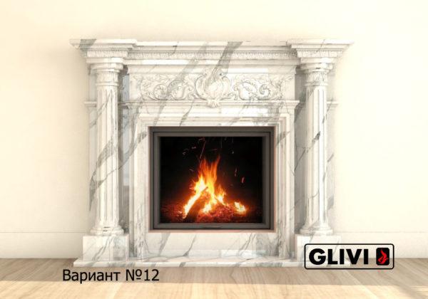 Мраморный каминный портал (облицовка) Эдельвейс, каталог (интернет-магазин) каминов из мрамора, изображение, фото 19