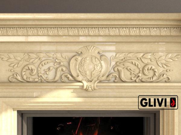 Мраморный каминный портал (облицовка) Эдельвейс, каталог (интернет-магазин) каминов из мрамора, изображение, фото 3
