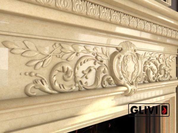 Мраморный каминный портал (облицовка) Эдельвейс, каталог (интернет-магазин) каминов из мрамора, изображение, фото 5