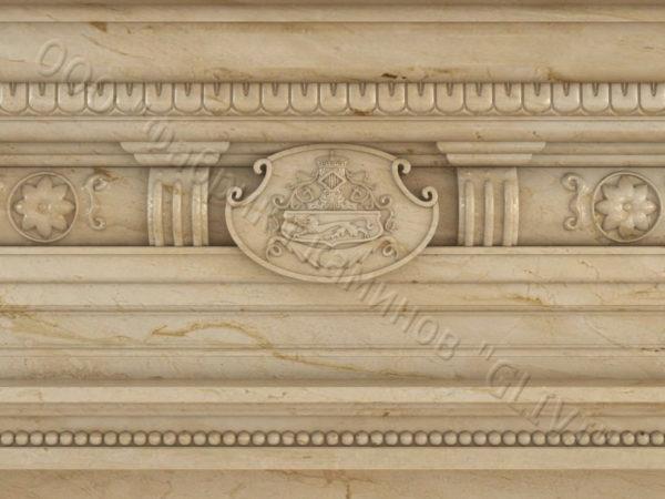 Мраморный каминный портал (облицовка) Эмилия, каталог (интернет-магазин) каминов из мрамора, изображение, фото 3