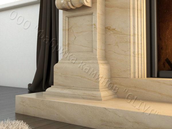 Мраморный каминный портал (облицовка) Эмилия, каталог (интернет-магазин) каминов из мрамора, изображение, фото 5