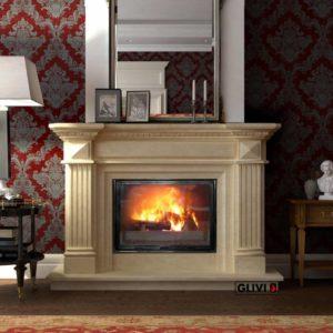 Мраморный каминный портал (облицовка) Фиджи, каталог (интернет-магазин) каминов из мрамора, изображение, фото 1