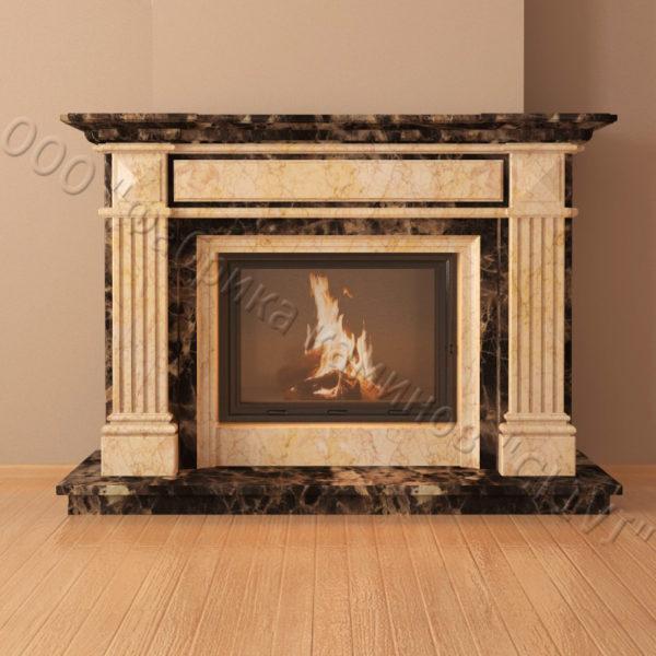 Мраморный каминный портал (облицовка) Фиджи, каталог (интернет-магазин) каминов из мрамора, изображение, фото 3