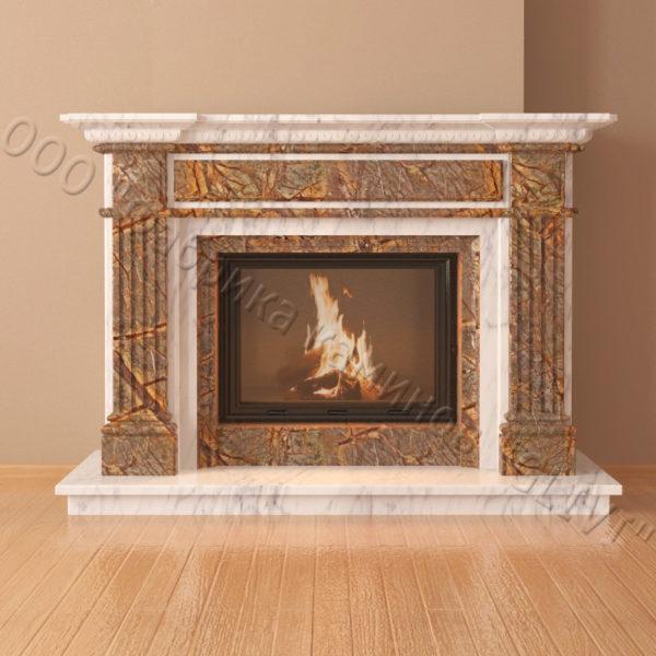 Мраморный каминный портал (облицовка) Фиджи, каталог (интернет-магазин) каминов из мрамора, изображение, фото 4