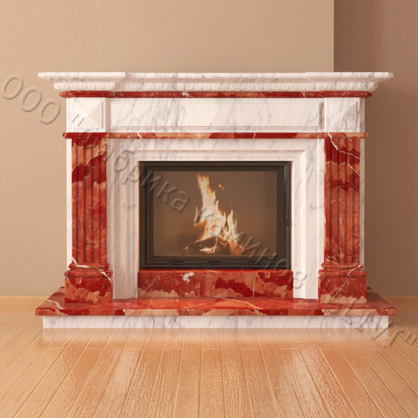 Мраморный каминный портал (облицовка) Фиджи, каталог (интернет-магазин) каминов из мрамора, изображение, фото 5