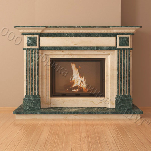 Мраморный каминный портал (облицовка) Фиджи, каталог (интернет-магазин) каминов из мрамора, изображение, фото 6
