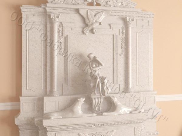 Мраморный каминный портал (облицовка) Гетсия, каталог (интернет-магазин) каминов из мрамора, изображение, фото 3