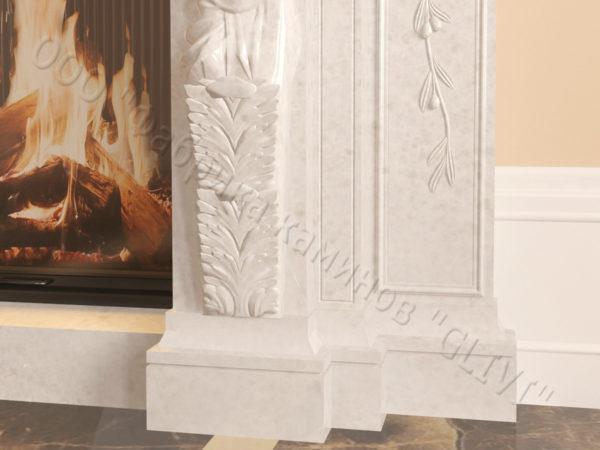 Мраморный каминный портал (облицовка) Гетсия, каталог (интернет-магазин) каминов из мрамора, изображение, фото 5