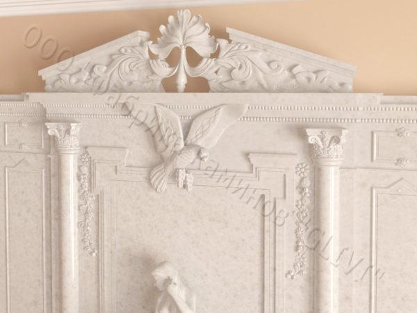 Мраморный каминный портал (облицовка) Гетсия, каталог (интернет-магазин) каминов из мрамора, изображение, фото 7