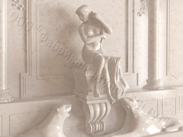 Мраморный каминный портал (облицовка) Гетсия, каталог (интернет-магазин) каминов из мрамора, изображение, фото 8