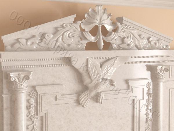 Мраморный каминный портал (облицовка) Гетсия, каталог (интернет-магазин) каминов из мрамора, изображение, фото 9