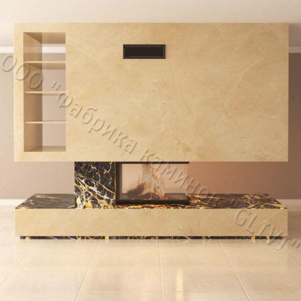 Мраморный камин с открытой топкой Глория, каталог (интернет-магазин) каминов из мрамора, изображение, фото 2