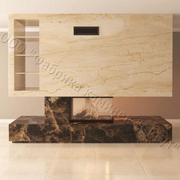 Мраморный камин с открытой топкой Глория, каталог (интернет-магазин) каминов из мрамора, изображение, фото 3