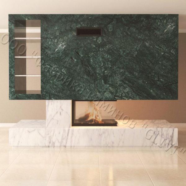 Мраморный камин с открытой топкой Глория, каталог (интернет-магазин) каминов из мрамора, изображение, фото 6