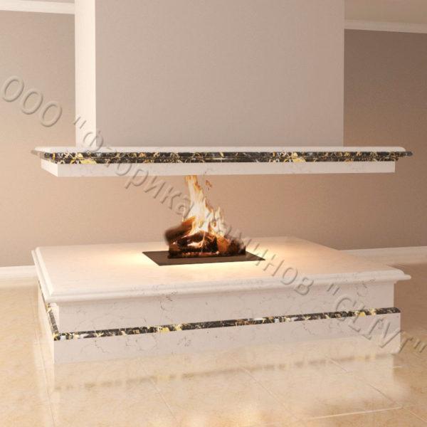 Мраморный камин с открытой топкой Индиго, каталог (интернет-магазин) каминов из мрамора, изображение, фото 3