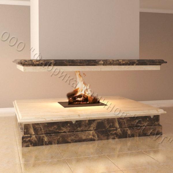 Мраморный камин с открытой топкой Индиго, каталог (интернет-магазин) каминов из мрамора, изображение, фото 4