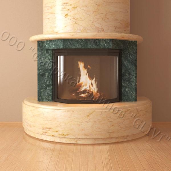 Мраморный каминный портал (облицовка) Литас, каталог (интернет-магазин) каминов из мрамора, изображение, фото 2