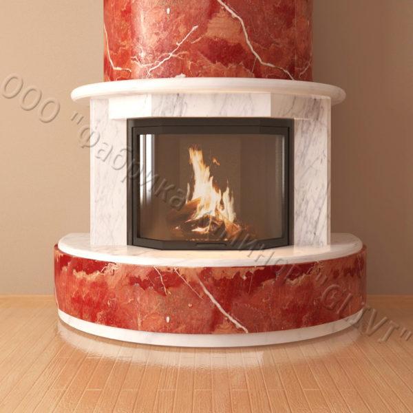 Мраморный каминный портал (облицовка) Литас, каталог (интернет-магазин) каминов из мрамора, изображение, фото 3