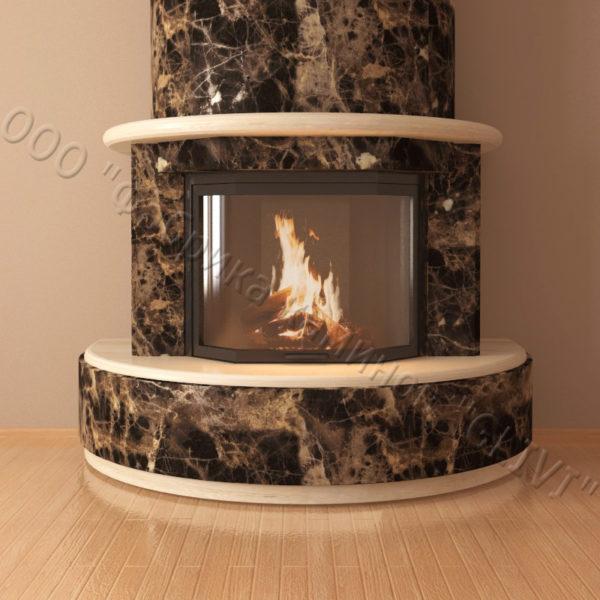 Мраморный каминный портал (облицовка) Литас, каталог (интернет-магазин) каминов из мрамора, изображение, фото 4