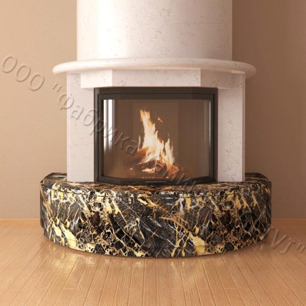 Мраморный каминный портал (облицовка) Литас, каталог (интернет-магазин) каминов из мрамора, изображение, фото 5