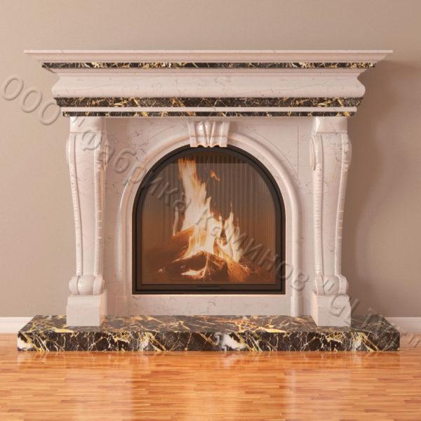Мраморный каминный портал (облицовка) Ливерпуль, каталог (интернет-магазин) каминов из мрамора, изображение, фото 3