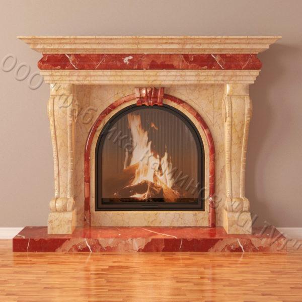 Мраморный каминный портал (облицовка) Ливерпуль, каталог (интернет-магазин) каминов из мрамора, изображение, фото 5