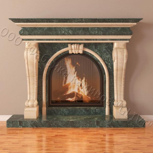 Мраморный каминный портал (облицовка) Ливерпуль, каталог (интернет-магазин) каминов из мрамора, изображение, фото 6