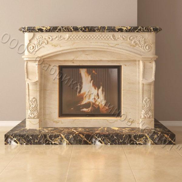 Мраморный каминный портал (облицовка) Людовик, каталог (интернет-магазин) каминов из мрамора, изображение, фото 2