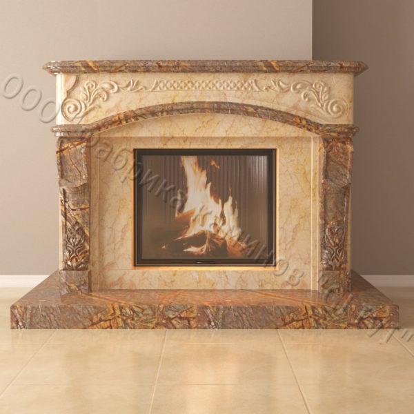 Мраморный каминный портал (облицовка) Людовик, каталог (интернет-магазин) каминов из мрамора, изображение, фото 4