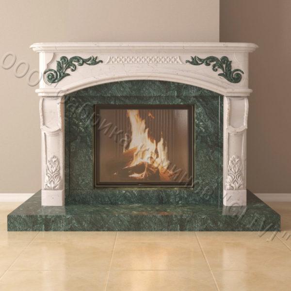 Мраморный каминный портал (облицовка) Людовик, каталог (интернет-магазин) каминов из мрамора, изображение, фото 6