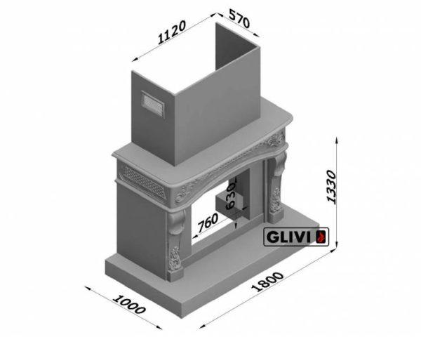 Мраморный каминный портал (облицовка) Людовик, каталог (интернет-магазин) каминов из мрамора, изображение, фото 7