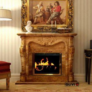 Мраморный каминный портал (облицовка) Магдебург, каталог (интернет-магазин) каминов из мрамора, изображение, фото 1