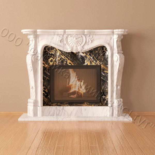 Мраморный каминный портал (облицовка) Магдебург, каталог (интернет-магазин) каминов из мрамора, изображение, фото 2