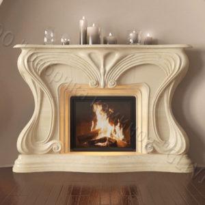 Мраморный каминный портал (облицовка) Морфо, каталог (интернет-магазин) каминов из мрамора, изображение, фото 1