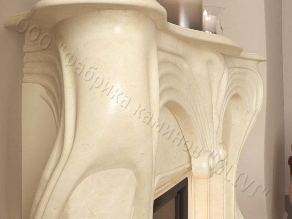Мраморный каминный портал (облицовка) Морфо, каталог (интернет-магазин) каминов из мрамора, изображение, фото 7