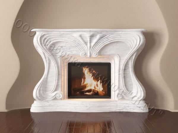 Мраморный каминный портал (облицовка) Морфо, каталог (интернет-магазин) каминов из мрамора, изображение, фото 9