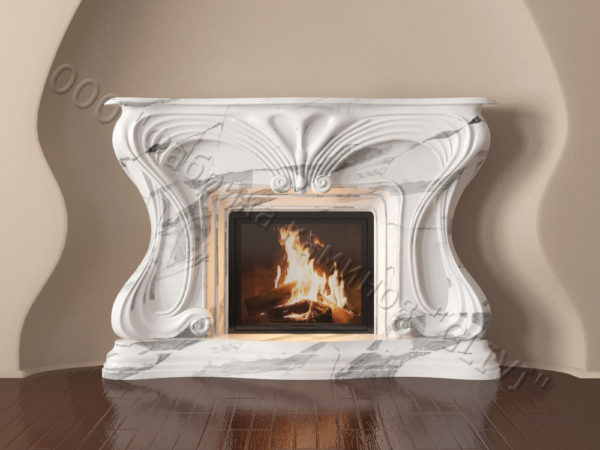 Мраморный каминный портал (облицовка) Морфо, каталог (интернет-магазин) каминов из мрамора, изображение, фото 11