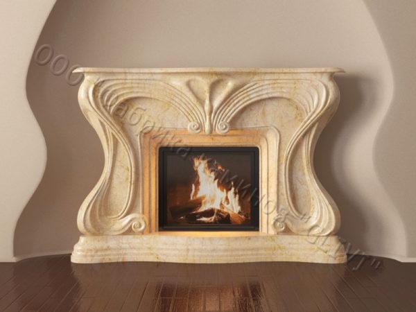 Мраморный каминный портал (облицовка) Морфо, каталог (интернет-магазин) каминов из мрамора, изображение, фото 14