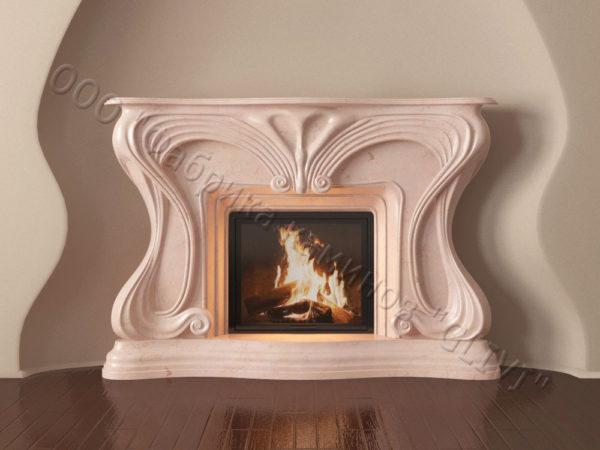 Мраморный каминный портал (облицовка) Морфо, каталог (интернет-магазин) каминов из мрамора, изображение, фото 16