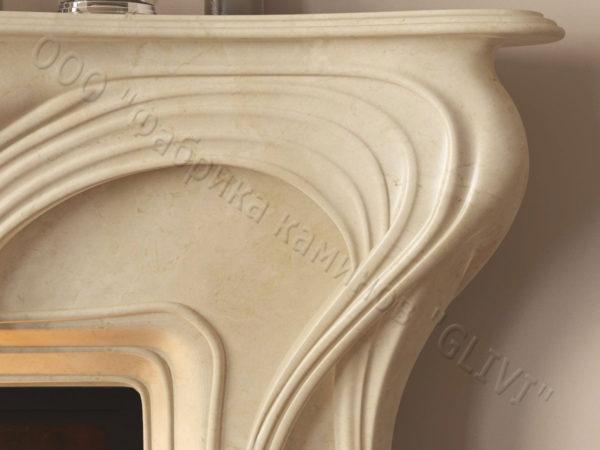 Мраморный каминный портал (облицовка) Морфо, каталог (интернет-магазин) каминов из мрамора, изображение, фото 5