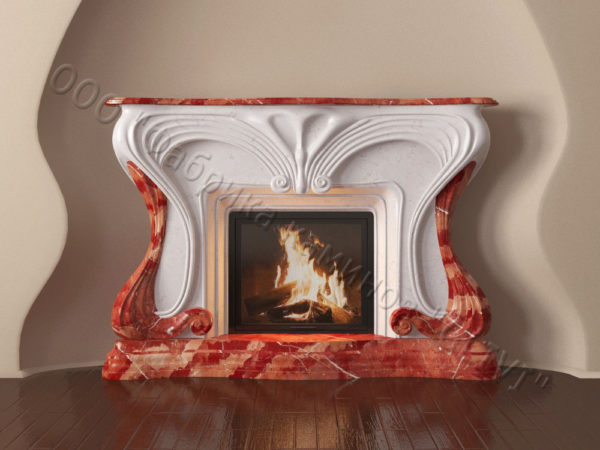 Мраморный каминный портал (облицовка) Морфо, каталог (интернет-магазин) каминов из мрамора, изображение, фото 8