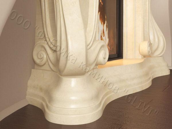 Мраморный каминный портал (облицовка) Морфо, каталог (интернет-магазин) каминов из мрамора, изображение, фото 6