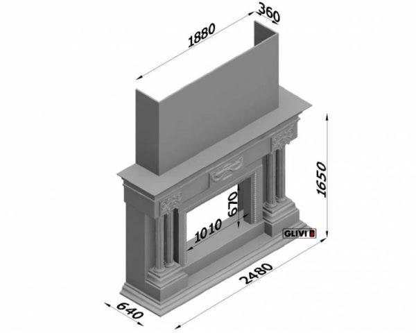 Фронтальный (прямой) камин Прованс