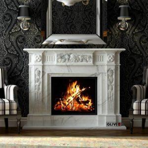 Мраморный каминный портал (облицовка) Раритет, каталог (интернет-магазин) каминов из мрамора, изображение, фото 1